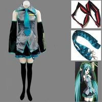 Vocaloid Miku Hatsune Cosplay Costume Full Set