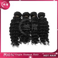 5A shipping unprocessed deep curly malaysian human hair 4pcs mix length