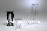 (1 piece/lot)100% high quality Acrylic lucite pedestal table/plexiglass pedestals/outdoor furniture/acrylic furniture