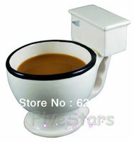 Free Shipping Original Big Mouth Big Size Toilet Mug Ceramic Coffee Tea  Mugs Fun Gag Novelties Funny Products Christmas Gifts