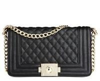 Free shipping small bags 2014 vintage plaid le women's handbag boy chain messenger  bags one shoulder cross-body fashion bag