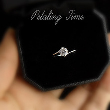 Top cubic zircon hearts and arrows the ecotone 50 female ring classic marriage