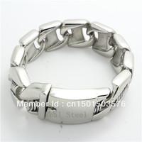 Factory Price 30mm Huge&Heavy Bracelets&Bangles Dull Polish Men Biker Chain 316L Stainless Steel  Bracelets for Brithday Gift