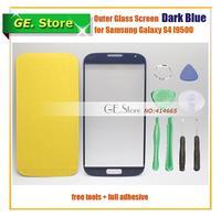 Original Dark Blue Outer Screen Glass for Samsung Galaxy S4 IV i9500 i9505 i9508 i337 Top Lens Digitizer Touch/LCD Repair Parts