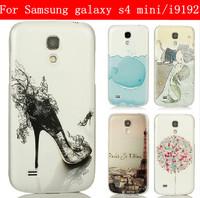 22 species pattern transparent side case for Samsung galaxy S4 mini case galaxy S4 mini cover Samsung I9190 case I9192 cover