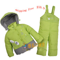 2013 child down coat set male female child baby infant set down coat
