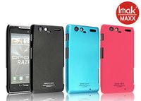 Free shipping original IMak ultrathin matte color with screen protector mobile phone case for Motorola XT910 MAXX