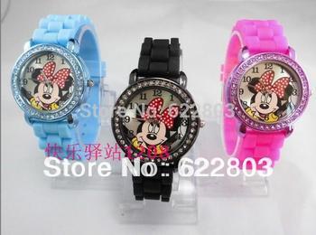 Hot sale cartoon minnie Mickey mouse Wholesale fashion Designer Women Quartz Watch fashion girls Ladies crystal Watch