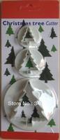 Factory Wholesale Christmas tree shape mold sugar Arts set Fondant Cake tools/cookie cutters 10sets/lot