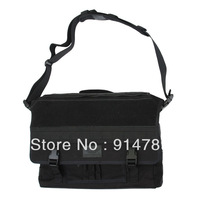 BATTLE HUNTER MILITARY TACTICAL MULTI-FUNCTION CORDURA MESSENGER REPORTER BAG BLACK-33031