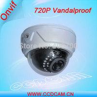 CCTV Cheap Dome Camera 720P Vandalproof IR Indoor IP Camera EC-IP3024