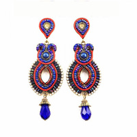 Y-X Vintage Statement Earrings of Indian Style Women Big Jewelry Free Shipping Health Care 1102482