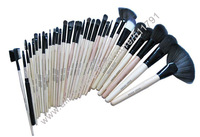 China Post Air Mail Free Shipping 2013 Hot Sle 32pcs per set makeup brush set+balck pouch