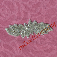 free shipping 2014 new  wholesale bridal beaded trims bling bling decorative rhinestone beaded trim for wedding dress  RA80