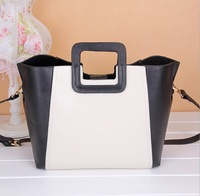 2013 New Fashion Designer Handbag Women Genuine Leather Shoulder Cross Body Bag Messenger Bags color collision brand handbags
