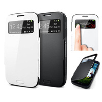 PCS504 TOP QUALITY Flip PC + TPU Smart Cover Wake View Slim Armor Protective Shell Case For SAMSUNG GALAXY S4 S IV i9500