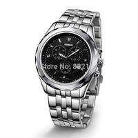 Casual sports mens watch circle steel watch multifunctional quartz mens watch 50040315