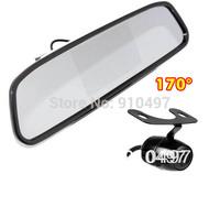 "Mini CCD Reversing Camera 170 degree + 4.3"" TFT LCD Car Rear View Mirror Monitor Kit"