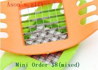 Mini Order $8(mixed) Hot sale Stainless Steel Cutter Potato Chip Vegetable Slicer Tools potato chip maker