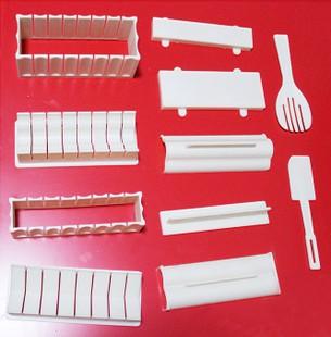 Diy sushi device rice balls set 11 piece set sushi mould sushi set rice cake mould tools Japans(China (Mainland))