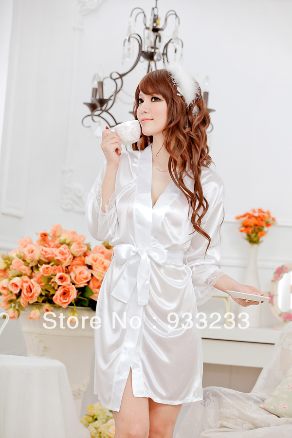 Free shipping Sexy lingerie 5coloer Bathrobes women Uniform with g-string ,sexy underwear,women sexy dress(China (Mainland))