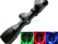 2-6x32 AOE Illuminated Reticle Riflescopes Mil-dot R G B three lights  Mountable Optical Riflescope with Free Mount