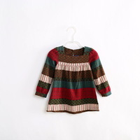 Hot sale Children clothing 2013 new autumn girls designer dressbeautiful leaves brand girl dress kids wear
