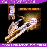 Jack Rabbit Vibrator Large New Clitoris 12 Speed Gold Flexible Thrusting Dildo G-Spot Vibrator Adult Toys Sex Products for Women