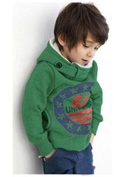 Vintage 2013 Kids Thicks Hooded sprot coat with Star Letter long sleeve jacket for the Baby Boys Retail free shipping