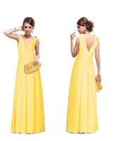 Hot Selling sexy evening gown Double V Elegant Cristal High waist Long Evening Dress 2013 New Arrival