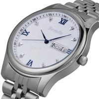 Relogios  Switzerland Brand Semdu Men's Quartz Watch Fashion New Calendar Date Waterproof 3atm Steel Strip Sapphire