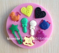 1PCS baby toy silicone fondant cake mold soap,fondant candle molds,sugar craft tools,chocolate mold ,silicone molds for cakes