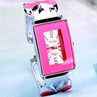 Brief elegant square women's bracelet watch gift women bracelet watch with seven colors161156