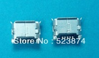 100pcs/lot  free shipping Micro 5pin usb connector dip 6.4 female connector B type