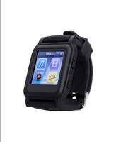Free shipping hot-selling black mp4 watch with ebook