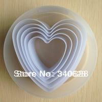 Factory Wholesale Heart Shaped Mold Sugar Arts Set Fondant Cake Tools 10sets/lot --A142