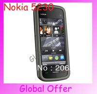 5230 Original Unlocked Nokia 5230 mobile phone 3G GPS 2MP Camera Bluetooth JAVA MP4 Cheap Smartphone refurbished 1 year warranty