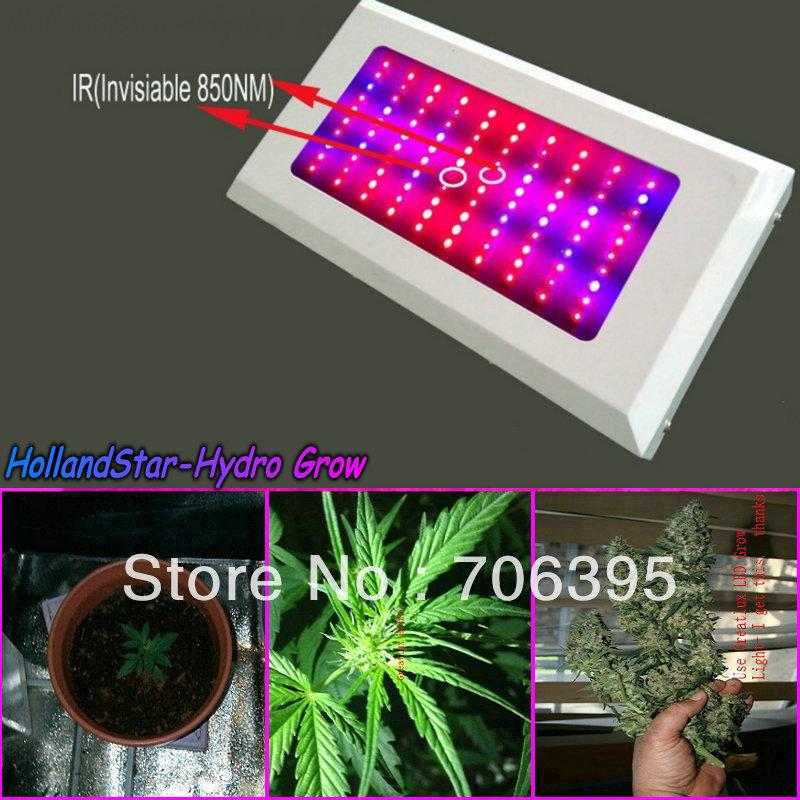 Brand-novo espectro total cresce a luz LED de 300W, 100pcs LEDs IR 3watt planta crescer lâmpada do painel para a floração medicinal, freeshipping(China (Mainland))