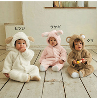 Free Shipping Hot White Pink Brown One Piece Long Sleeve Cotton Animal Sheep Baby Romper Newborn Romper Baby Costume Children