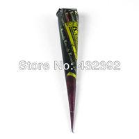 Henna natural jet black plant Henna tattoo paste into the dark India - Black purple