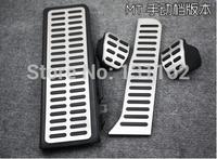 LHD New Listing Stainless Steel Manual Transmission MT Pedal For VW Passat B6 B7L R36 CC 4pcs/Kit