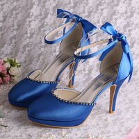 (13Colors) Designer Party Sandals for Women Shoes Size 40 Lace-up Royal Blue Free Dropshipping