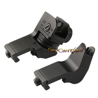 Funpowerland Offest 45 Degree Back Up Iron Sights A2 Style for Rapid Transition /Rear &Front sight