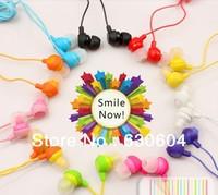 Lose money promotion 12 colors to choose fruit smile earphone in ear headphones & headphones earphones free shipping 20pcs/lot