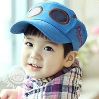 Pilot child baseball cap hat baby sun hat sunbonnet summer cap bonnet free shipping