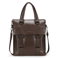 Man bag  Wise fashion Cowhide first layer of water Business casual bag High quality Genuine Leather Bag shoulder diagonal