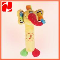 2014 Best selling funny  plush elephant, plush sounding toy, plush animal toy for kids