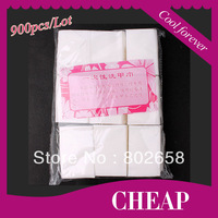 Free Shipping (900pcs/Pack) High Quality Nail Art Polish Remover Clean Wipes Cotton Paper Gel Acrylic Tips  Wholesale