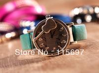 WAT094 Free shipping 2013 New ladies wrist watch violin musical note quartz watch for women famous brand designer fashion watch