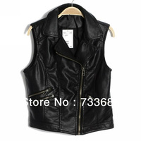 freeshipping End of a single women's fashion leather vest female